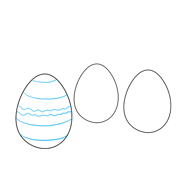 How to Draw Easter Eggs: Step 4