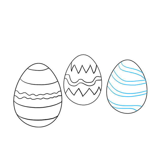 How to Draw Easter Eggs: Step 6