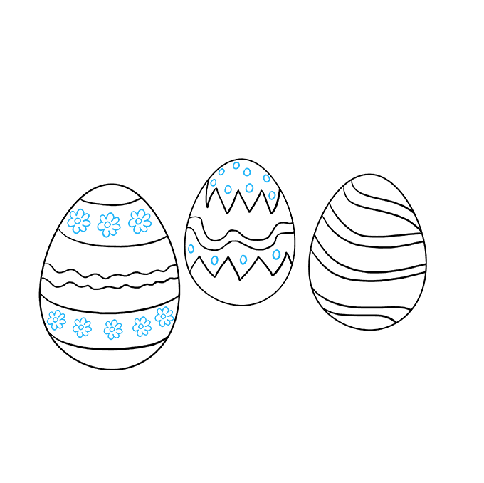 How to Draw Easter Eggs: Step 7