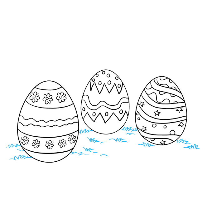 How to Draw Easter Eggs: Step 9
