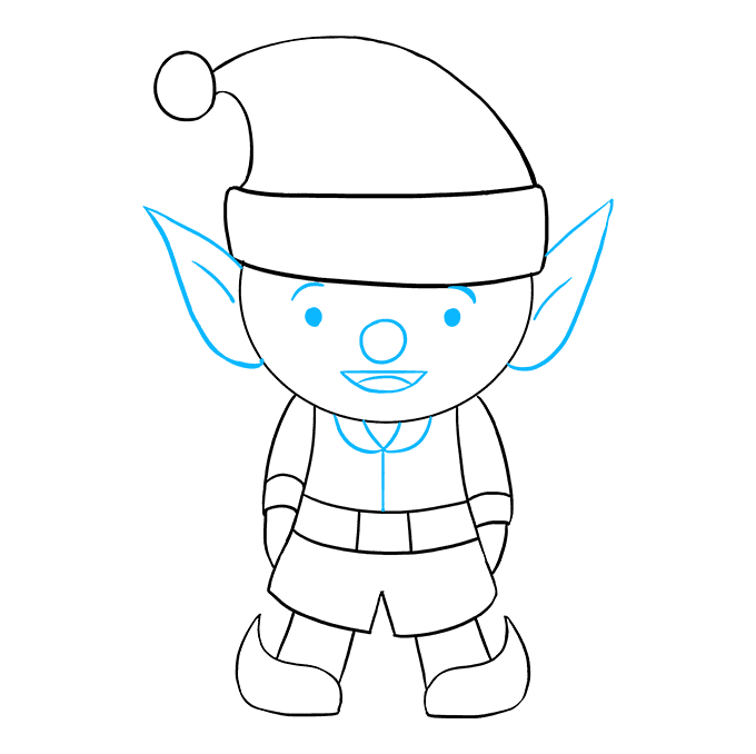 How to Draw Elf: Step 9