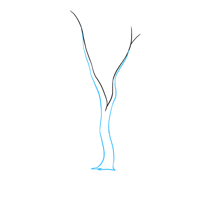 How to Draw a Fall Tree Step 02