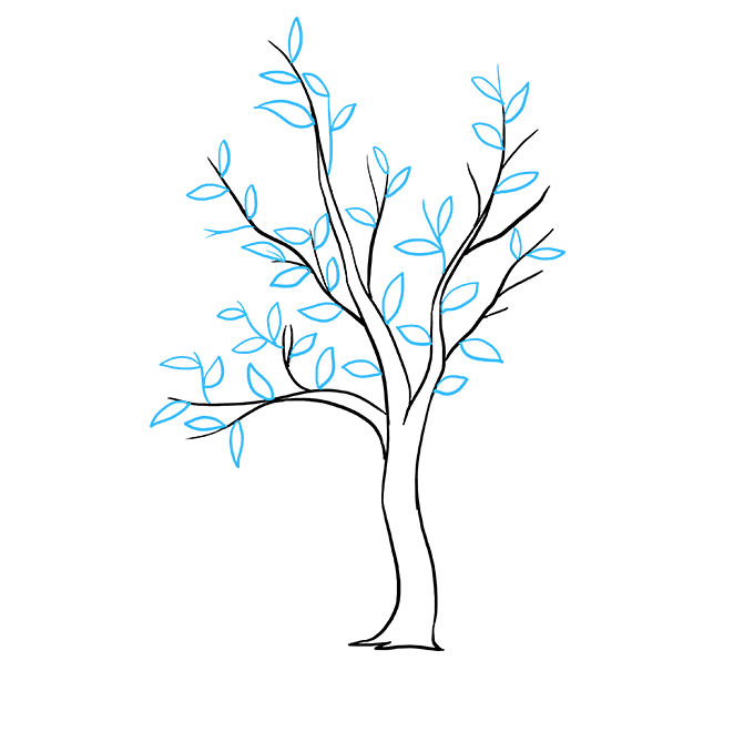 How to Draw Fall Tree: Step 5