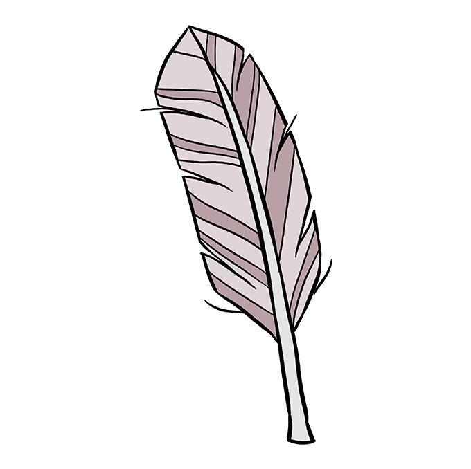 How to Draw Feather: Step 10