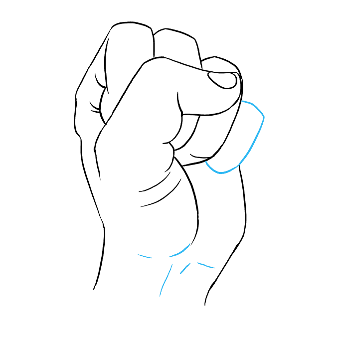 How to Draw Fist: Step 9