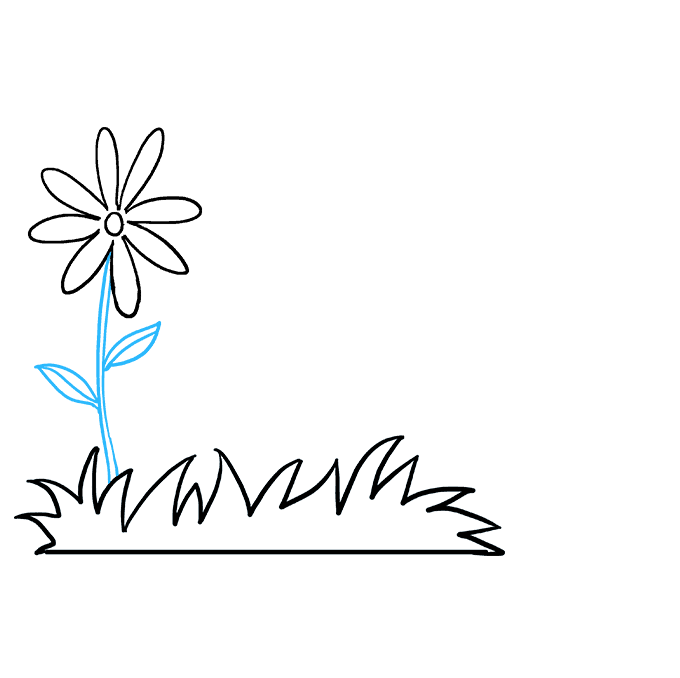 How to Draw Flower Garden: Step 3