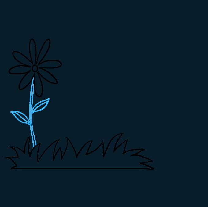How to Draw Flower Garden Step 03
