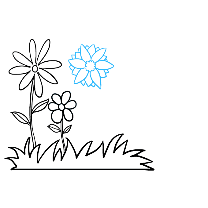 How to Draw Flower Garden: Step 6