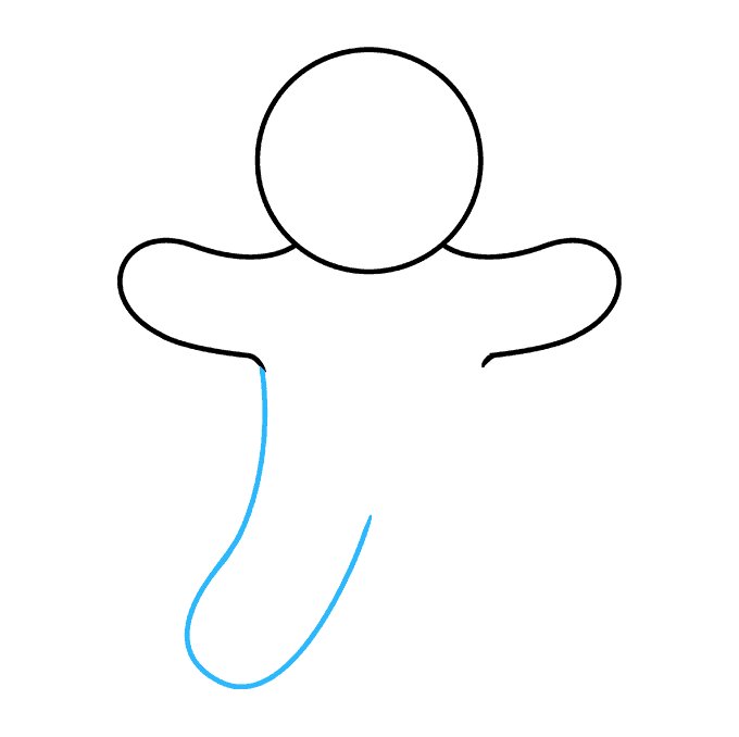 How to Draw Gingerbread Man Step 04