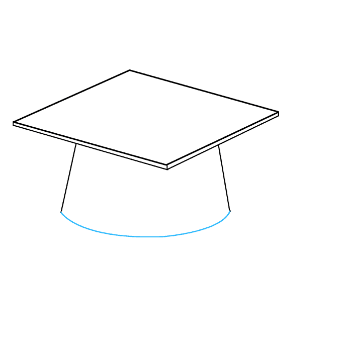 How to Draw Graduation Cap: Step 4