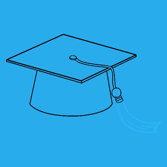 How to Draw Graduation Cap: Step 9