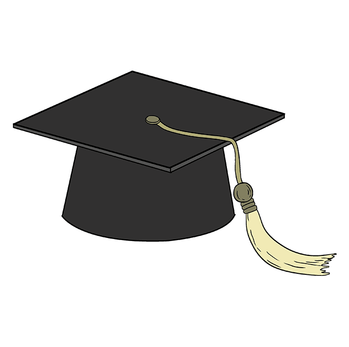 How to Draw Graduation Cap: Step 10