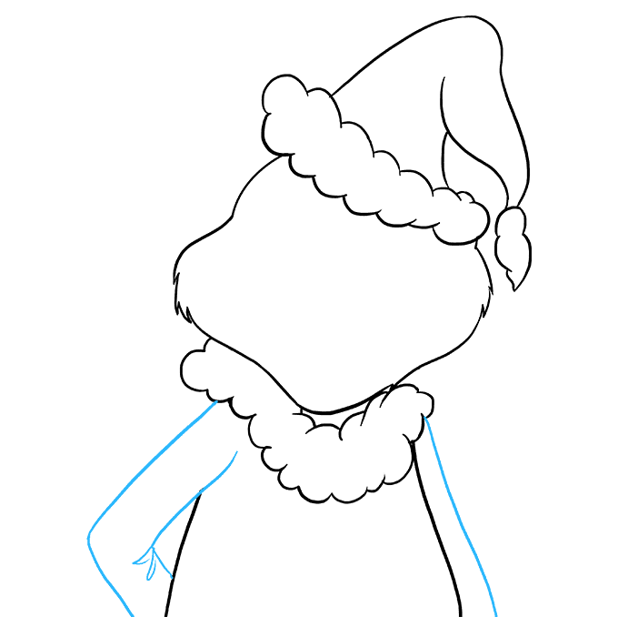 How to Draw Grinch: Step 7