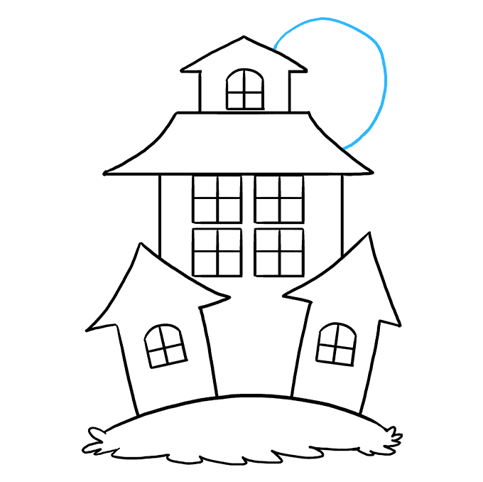 How to Draw Haunted House: Step 7