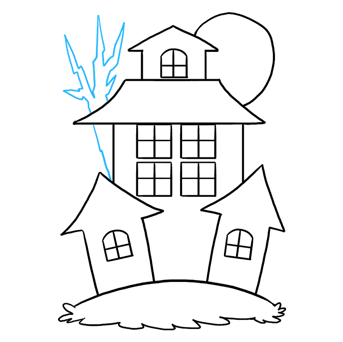 How to Draw Haunted House: Step 8
