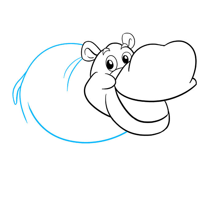 How to Draw Hippo: Step 7