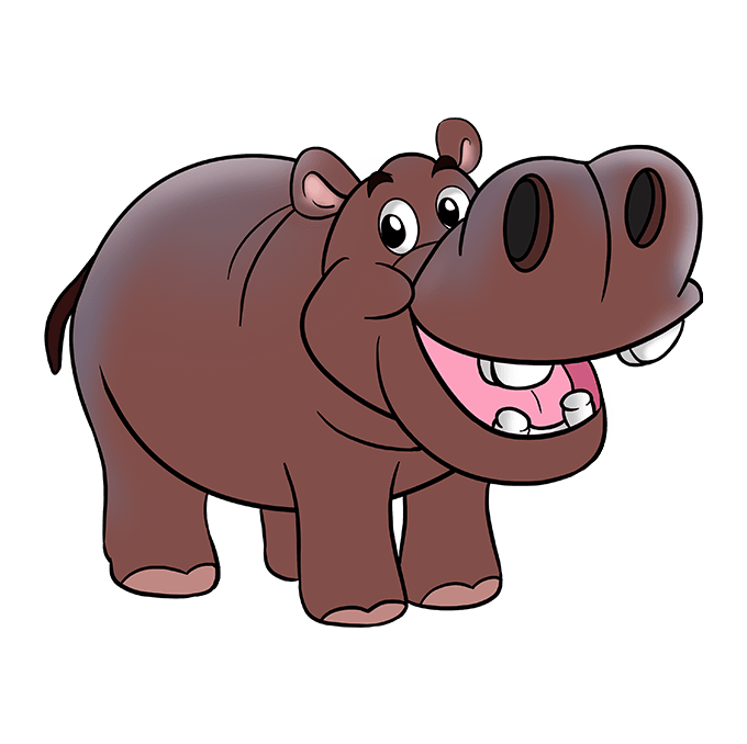 How to Draw Hippo: Step 10