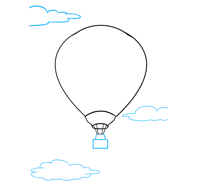 How to Draw Hot Air Balloon: Step 8