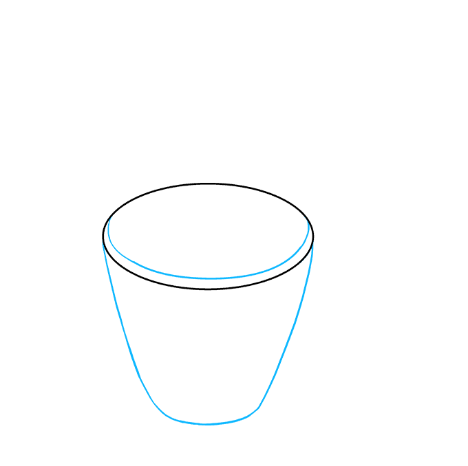 How to Draw Hot Chocolate Step 02