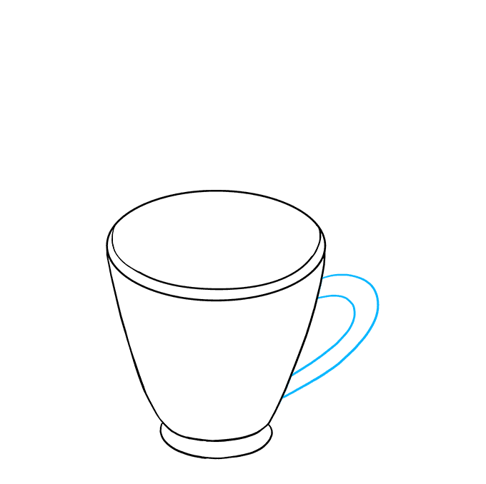 How to Draw Hot Chocolate Step 04