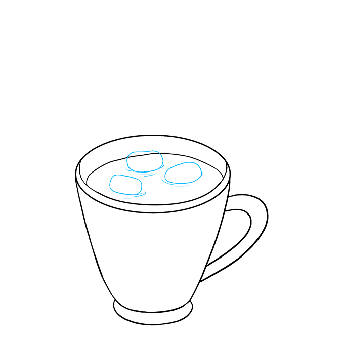 How to Draw Hot Chocolate: Step 6