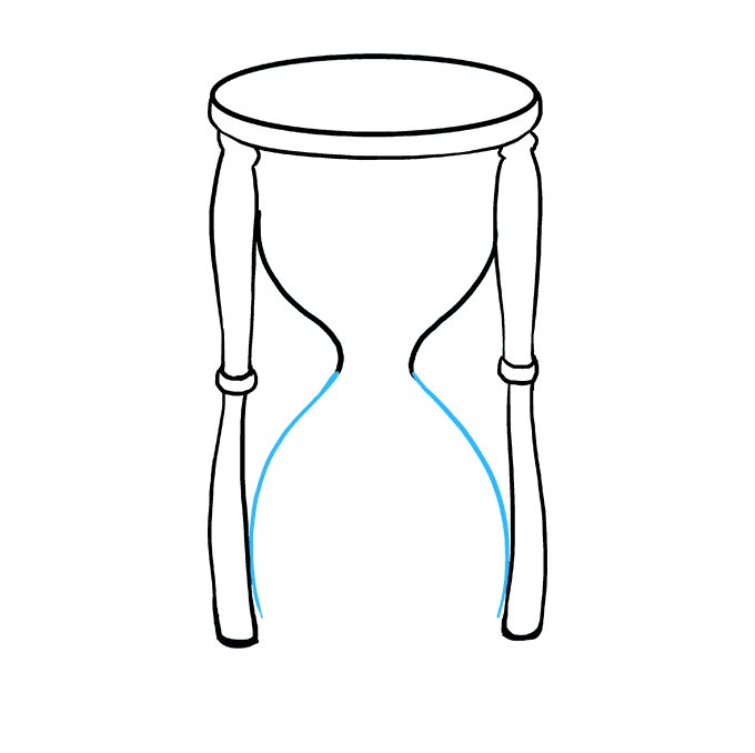 How to Draw Hourglass: Step 6