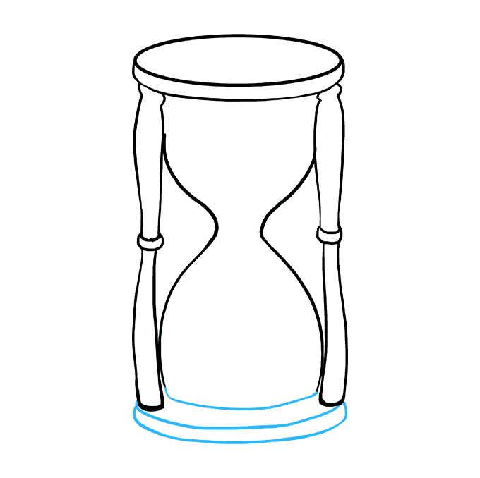 How to Draw Hourglass: Step 7
