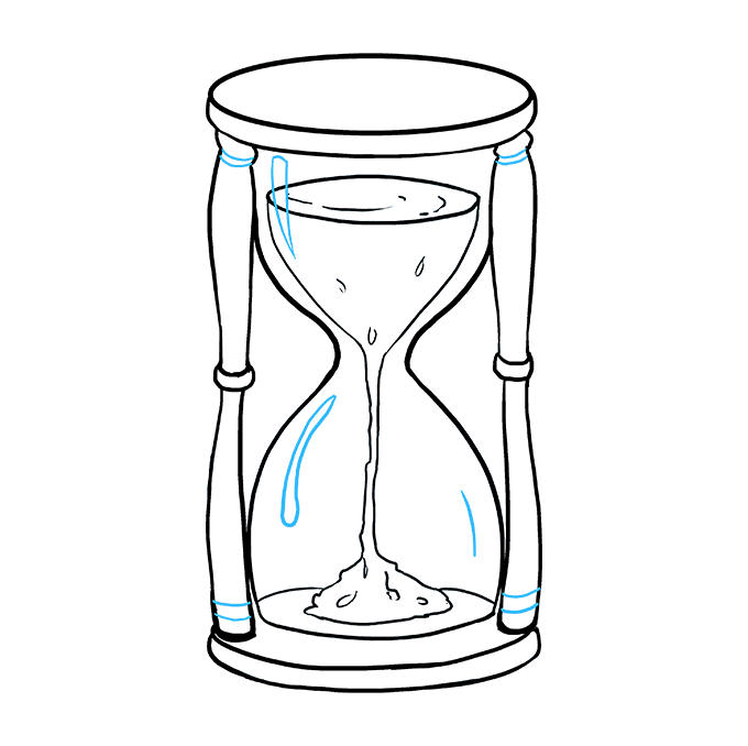 How to Draw Hourglass: Step 9
