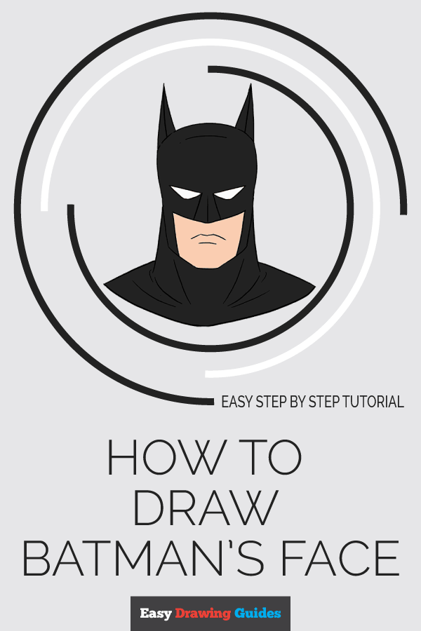 How to Draw Batmans Face Pinterest Image