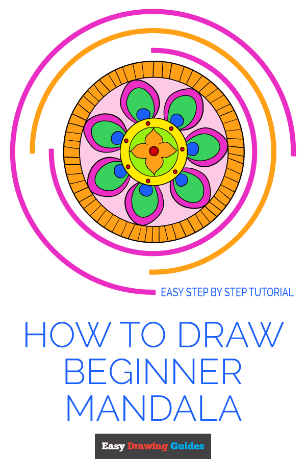 How to Draw Beginner Mandala | Share to Pinterest
