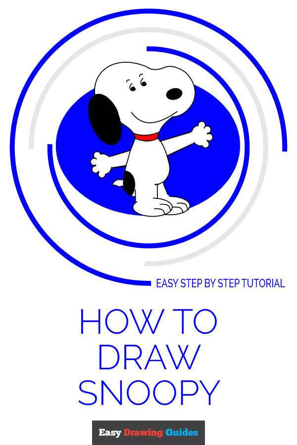 How to Draw Snoopy | Share to Pinterest