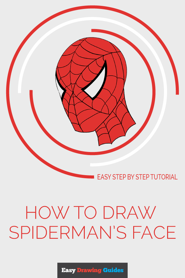 How to Draw Spidermans Face Pinterest Image