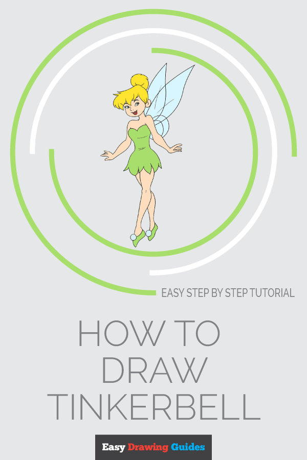 How to Draw Tinkerbell | Share to Pinterest