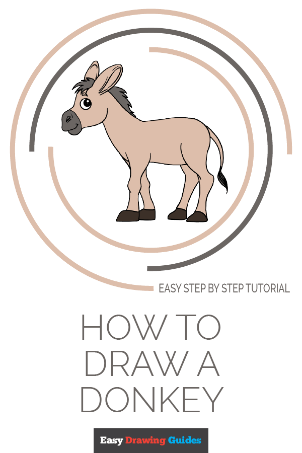 How to Draw Donkey | Share to Pinterest