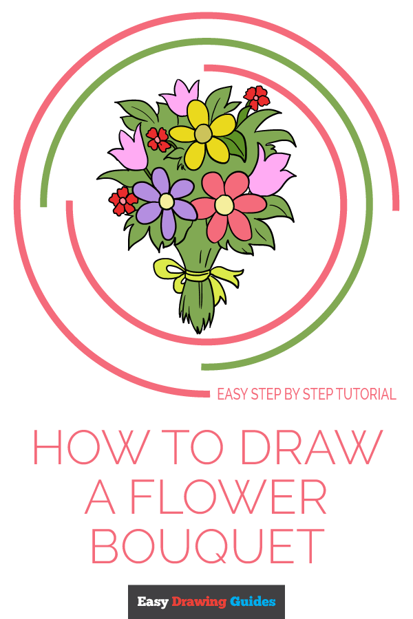 How to Draw Flower Bouquet | Share to Pinterest
