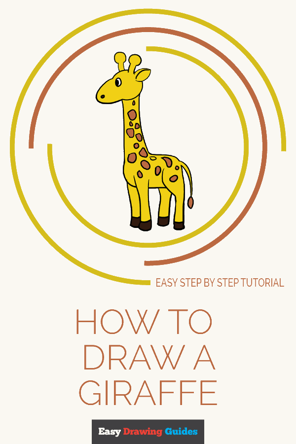 How to Draw a Giraffe Pinterest Image