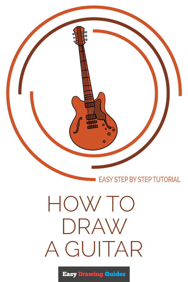 How to Draw Guitar | Share to Pinterest