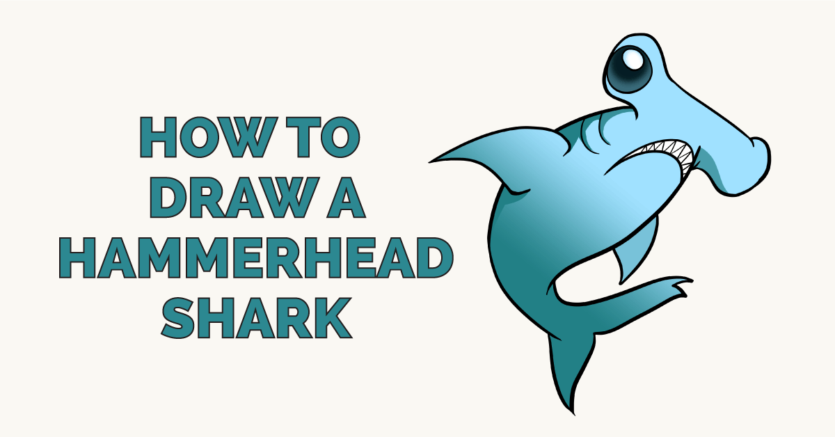 How to draw a hammerhead shark - featured image