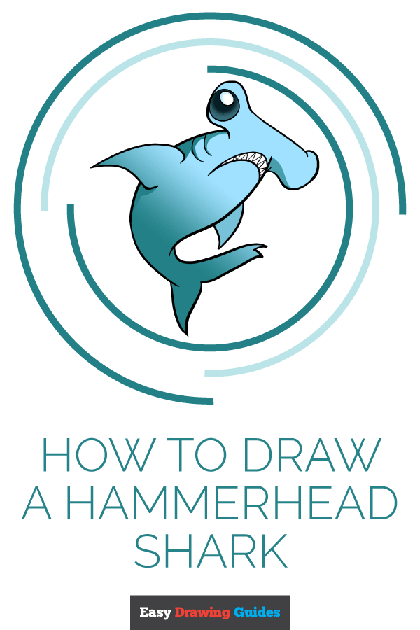 How to Draw Hammerhead Shark | Share to Pinterest