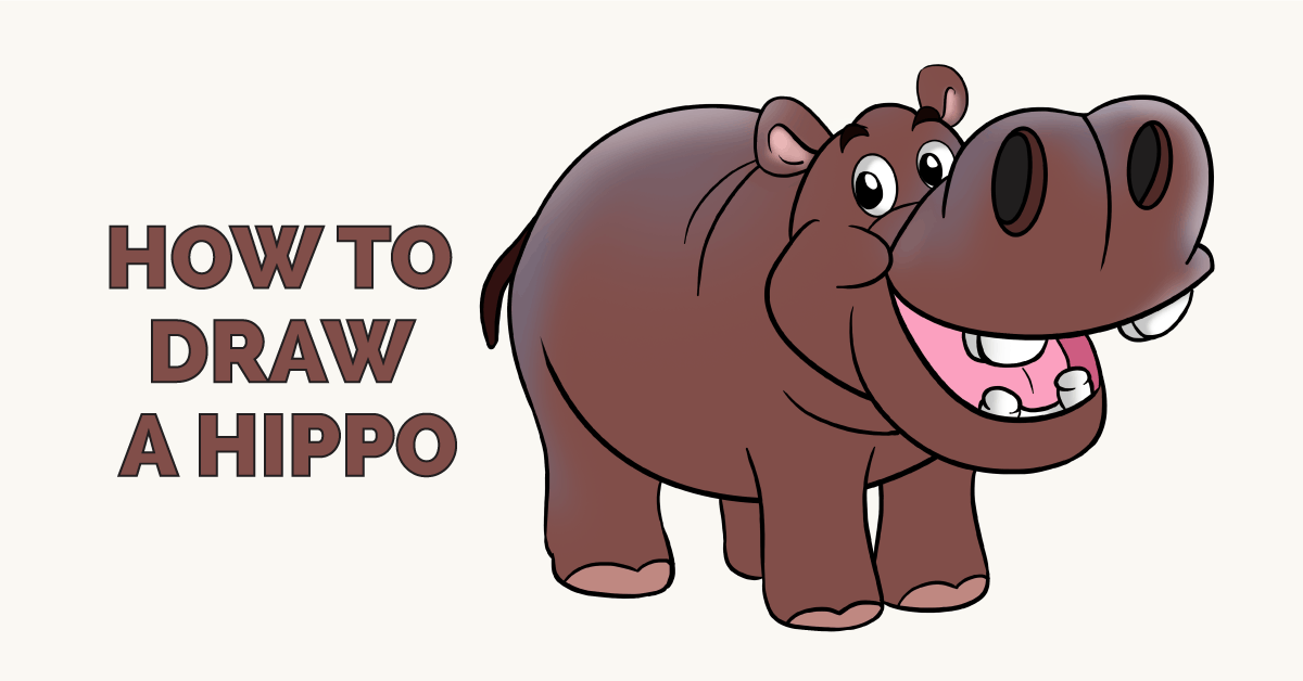 How to Draw a Hippo Featured Image