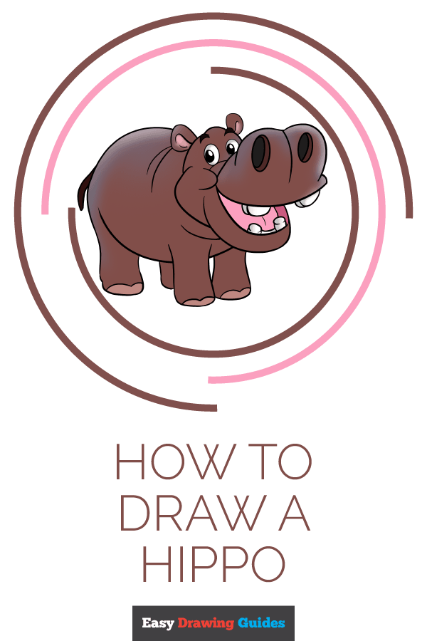 How to Draw Hippo | Share to Pinterest