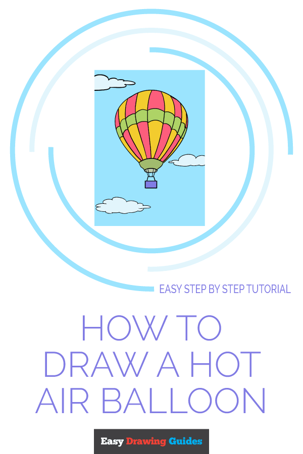 How to Draw Hot Air Balloon | Share to Pinterest