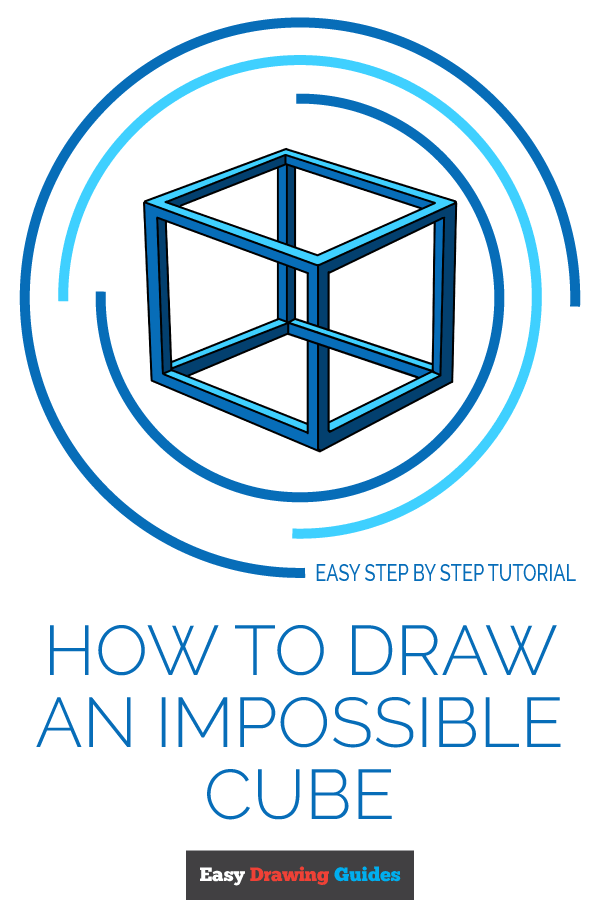 How to Draw Impossible Cube | Share to Pinterest