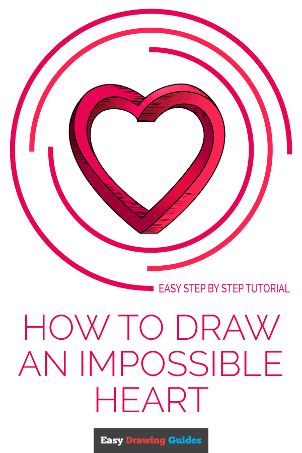 How to Draw Impossible Heart | Share to Pinterest