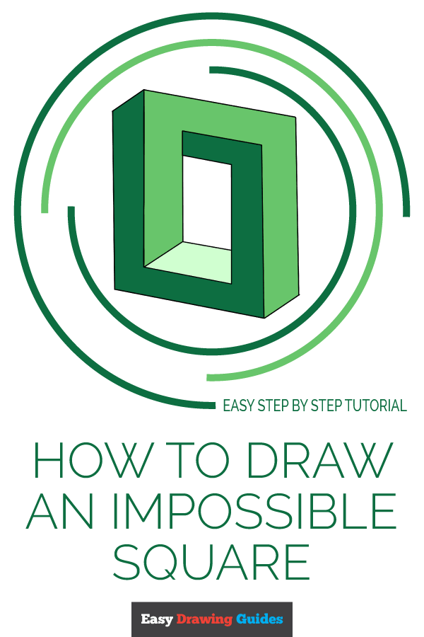 How to Draw Impossible Square | Share to Pinterest