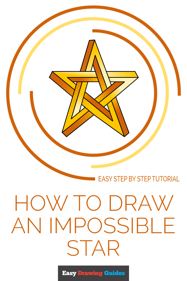 How to Draw Impossible Star | Share to Pinterest