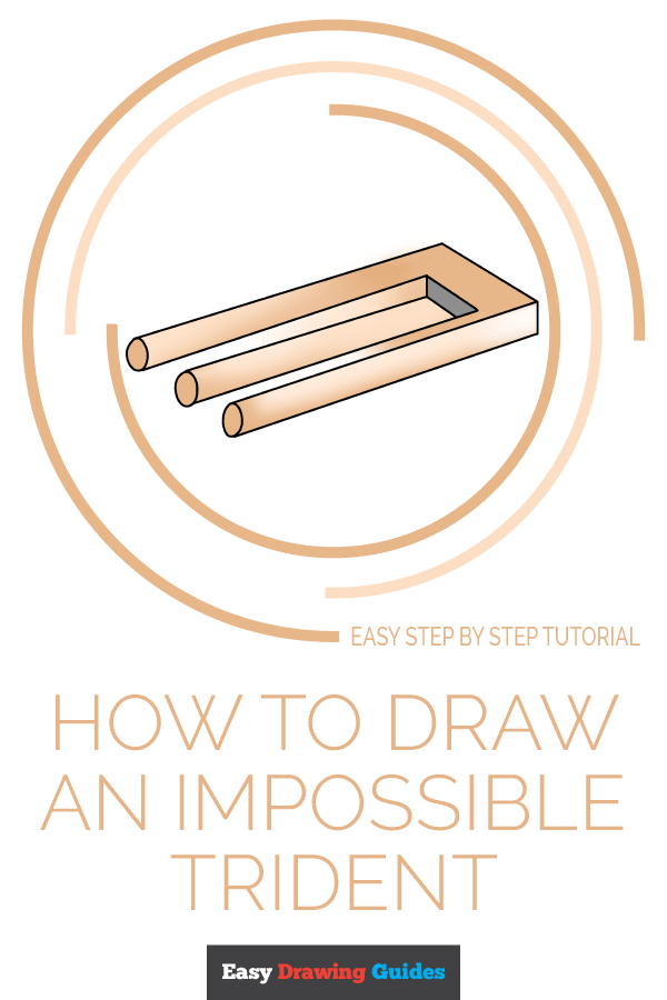 How to Draw Impossible Trident | Share to Pinterest