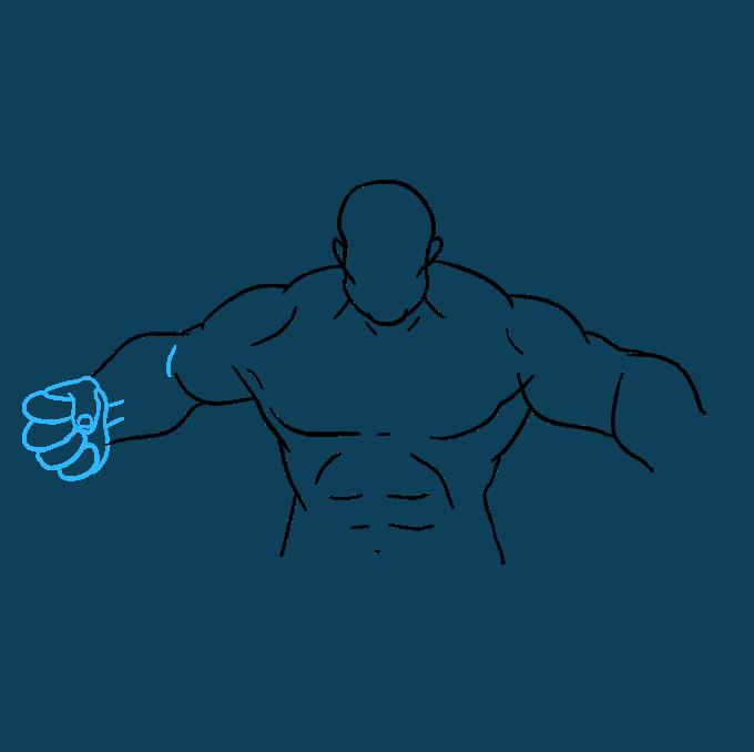 How to Draw Hulk: Step 7
