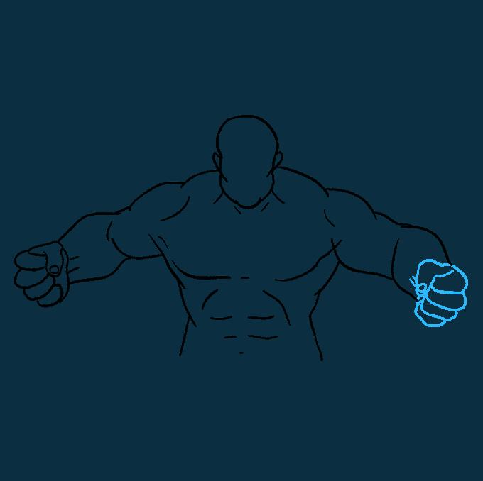 How to Draw Hulk: Step 8