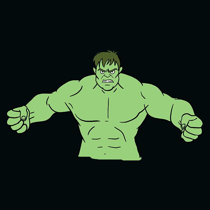 How to Draw Hulk: Step 10